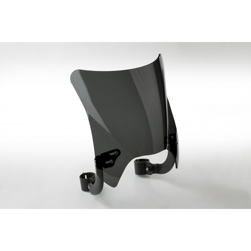 Czarna szyba motocyklowa Mohawk - mocowanie czarne typu B (44-51 mm) / N2841-002