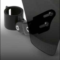 Czarna szyba motocyklowa Mohawk - mocowanie czarne typu A (52-56 mm) / N2835-002 - mocowanie