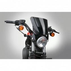 Czarna szyba motocyklowa Mohawk - mocowanie czarne typu A (52-56 mm) / N2835-002 - na motocyklu