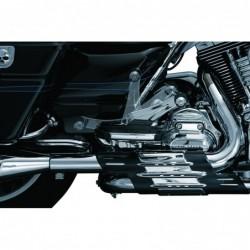 Chromowane podnóżki motocyklowe dla pasażera H-D / KY-4353 - zamontowane
