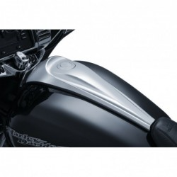 Chromowany korek wlewu paliwa typu Pop-Up na bak motocykla Harley Davidson / KY-7178 - na motocyklu