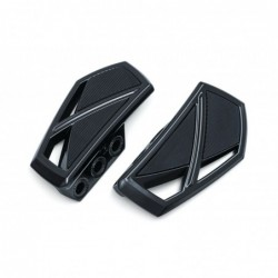 Czarne podesty motocyklowe Kuryakin - seria Phantom / KY-5773