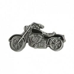 Czarny motocykl - chopper  przypinka  / TOR 8099427
