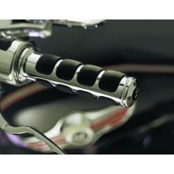 Motocyklowe manetki ISO-GRIPS prążki / KY-6240 - na motocyklu