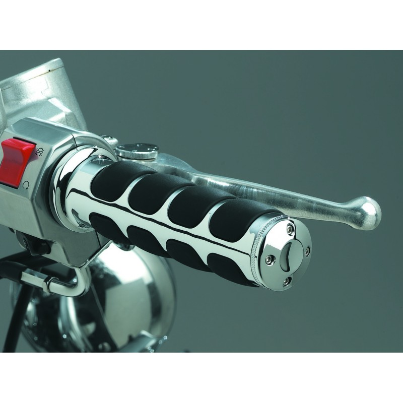 Motocyklowe manetki ISO-GRIPS prążki / KY-6241