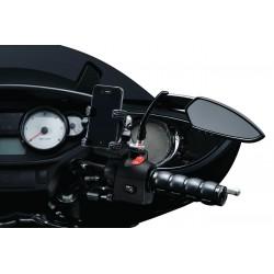 Motocyklowe manetki prążkowane ISO GRIP / czarne