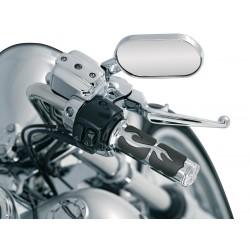 Motocyklowe manetki w płomienie Flame Grips - na motocyklu H-D