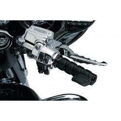 Motocyklowe manetki prążkowane Iso Grips / KY-6321 z dodatkowym tempomatem
