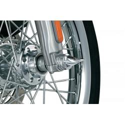 Chromowane kolce na śruby osi koła przedniego motocykla KY-1219