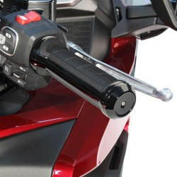 Czarne motocyklowe manetki Goldstrike dla Honda Gold Wing / GOLD-57002