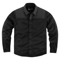 Męska koszula motocyklowa Icon z ochraniaczami Upstate Riding Shirt Black