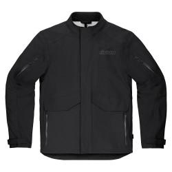 Męska kurtka motocyklowa Icon Stormhawk czarna\ Stormhawk Jacket CE - Black