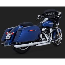 Chromowane kolektory wydechowe Vance & Hines Dresser duals / Harley-Davidson Touring 2017-
