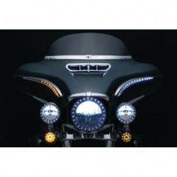 Światła L.E.D. Bat Lashes do Harley Davidson / KY-7131 - widok z przodu