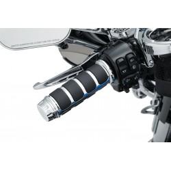 Chromowane nakładki na podgrzewane manetki Harley Touring / KY-6780