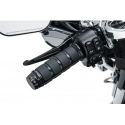 Czarne nakładki na podgrzewane manetki Harley Touring / KY-6781