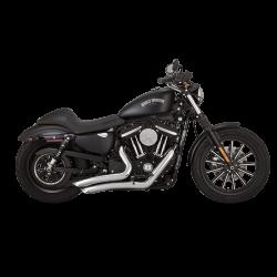 Motocyklowy ukad wydechowy Big Radius 2-INTO-2 BLACK / V46067