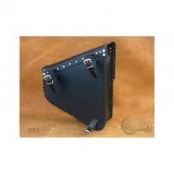Czarna boczna sakwa do motocykla H-D Softail / SA-S53