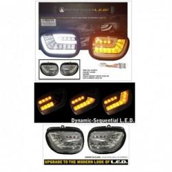 Białe sekwencyjne kierunkowskazy ze światłami dziennymi - GL1800 - zestaw