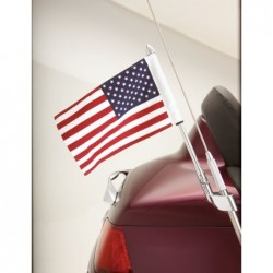 Chromowany maszt do anteny z flagą USA / BB 52-713