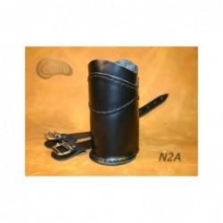 Skórzany uchwyt na napój do zamontowania na gmol / SA-N2A