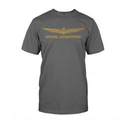 Motocyklowy T-Shirt Honda Gold Wing Collection - szary