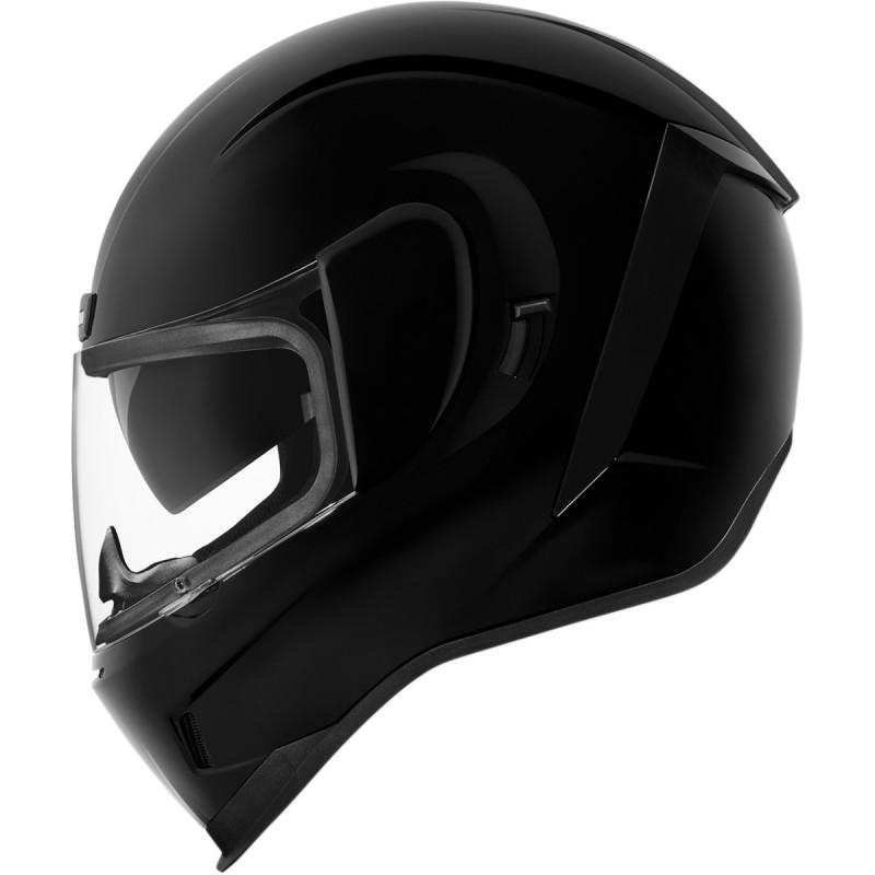 Kask motocyklowy ICON AIRFORM czarny połysk / M