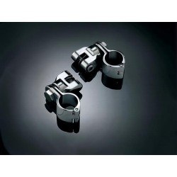 Chromowane uchwyty do spacerówek motocyklowych z mocowaniem magnum 25 mm / KY-4576