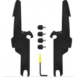 Czarny zestaw montażowy do szyb Memphis FATS/SLIM oraz Batwing / MS-MEB2041