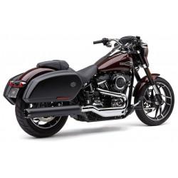 Czarny tłumik z frezowaną końcówką, Harley Sport Glide / COBRA 6521B