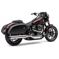 Chromowany tłumik z frezowaną końcówką, Harley Sport Glide / COBRA 6521