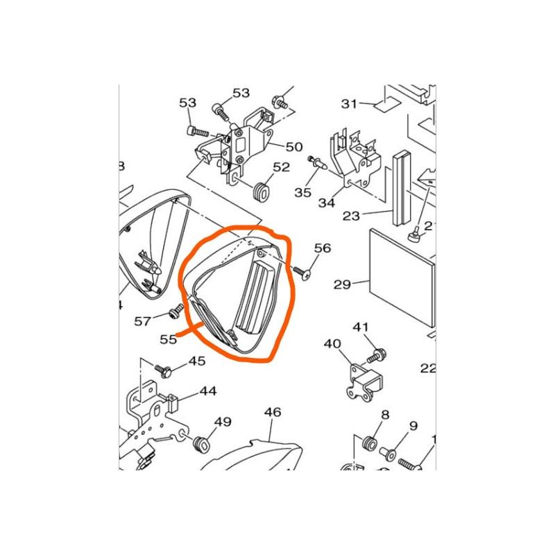 Środkowa osłona atrapy filtra powietrza do Yamaha XV1900 / 1D7-21741-00-00