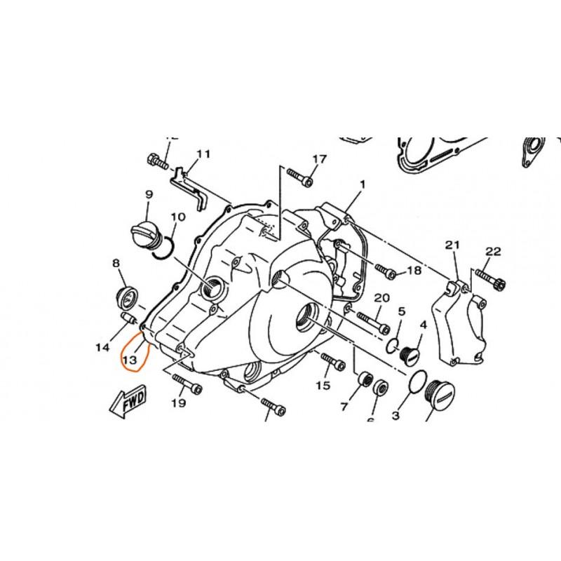 Uszczelka silnika do motocykla Yamaha XVS 1100  / 5EL-15451-00-00