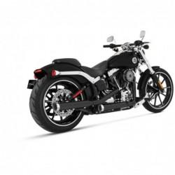 """Tłumiki Rinehart SLIP-ON 3"""" czarne, chrom-tip, Harley Softail / RIN 500-0201C"""