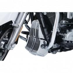 Chromowana osłona chłodnicy oleju do motocykla H-D Touring / na motocyklu
