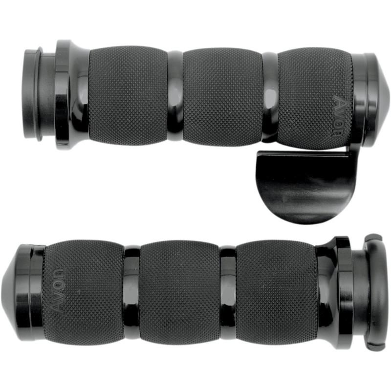 Czarne manetki z tempomatem do motocykla Harley-Davidson  / AV-AIR-90-AN-FL-BO