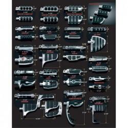 Podnóżki motocyklowe Kuryakyn - wzory i wymiary