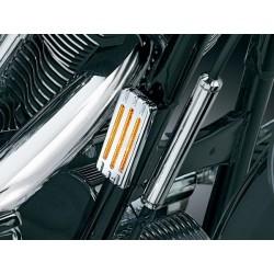Chromowane nakładki na odblaski motocyklowe