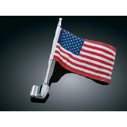Motocyklowy maszt z flagą...