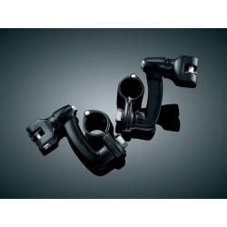 Czarne ramiona spacerówek motocyklowych z mocowaniem na gmol o średnicy 32 mm/ KY-7571