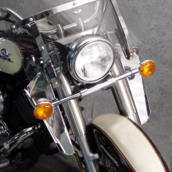 Motocyklowe deflektory na nogi / N763A z szybą