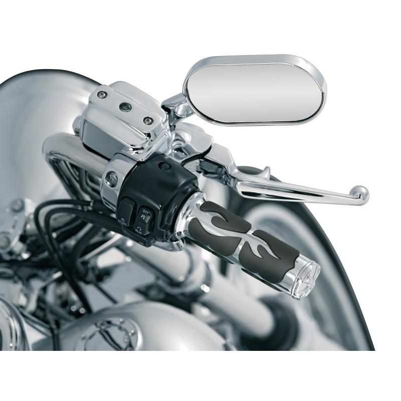 Motocyklowe manetki w płomienie Flame / KY-6269