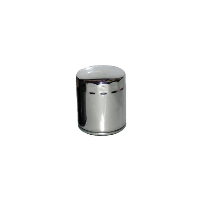 Chromowany motocyklowy filtr oleju Hiflo / HF170C