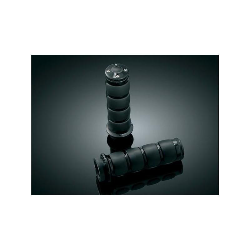 Czarne motocyklowe manetki ISO Grips / KY-6337