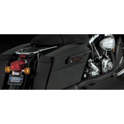 Motocyklowe kolektory Dresser Duals - czarne / V46799