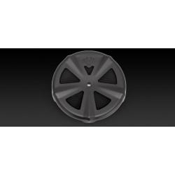 Czarna nakładka na motocyklowy filtr powietrza Harley Davidson / V71019