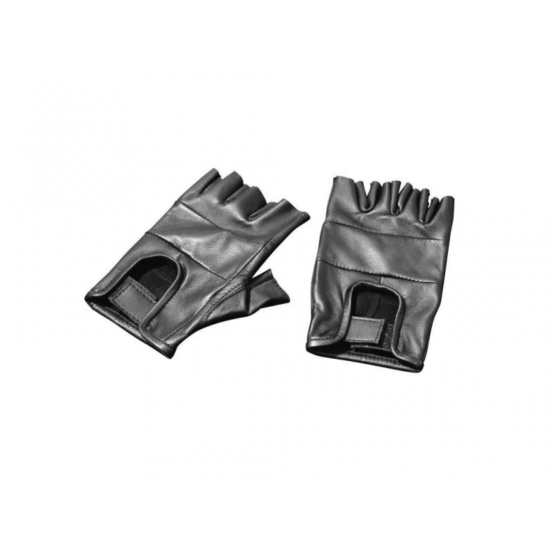 Skórzane rękawiczki bez palców na ciepłe dni - XXL