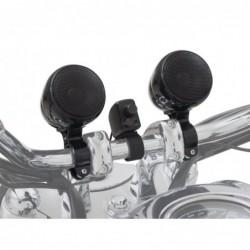Czarne głośniki motocyklowe...