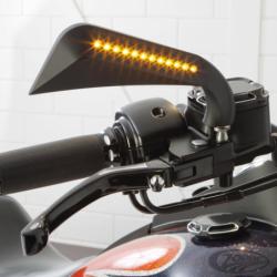 Czarne lusterka motocyklowe z LED / ZD 270857