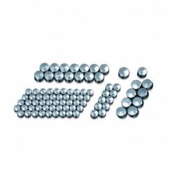 Zestaw chromowanych nakładek na śruby motocyklowe / KY-2450